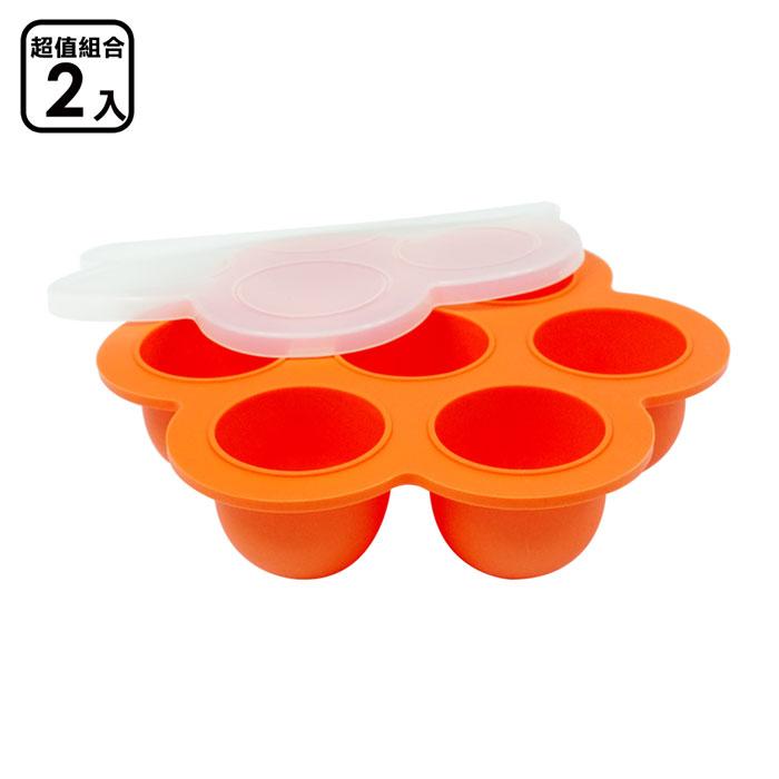 【EG Home 宜居家】七格矽膠製冰分裝盒(超值二入) 1