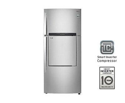 LG 樂金 525公升 雙門  變頻 門中門冰箱 GR-DA560SV / 門中門 / 鮮淨過濾系統 / 3D 立體冷流