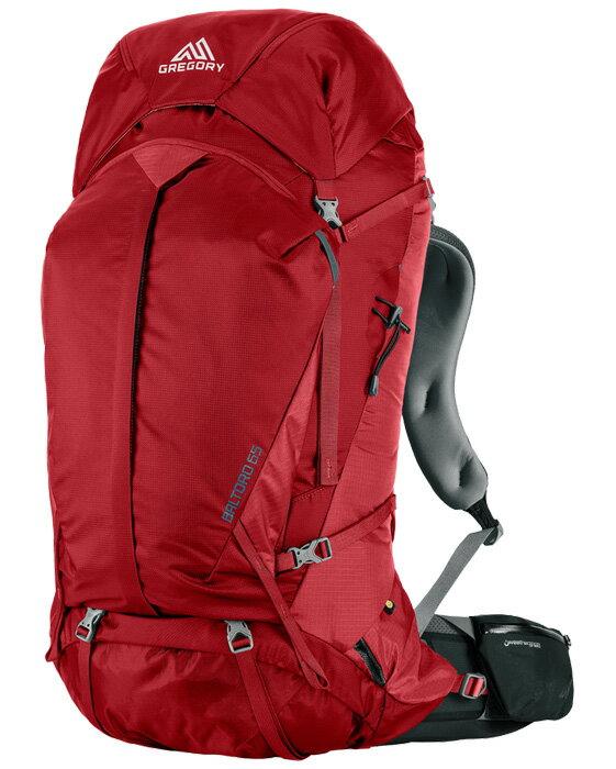 Gregory |美國| Baltoro 75 登山背包《男款》/重裝背包 自助旅行背包-火紅M/65780 【容量75L】