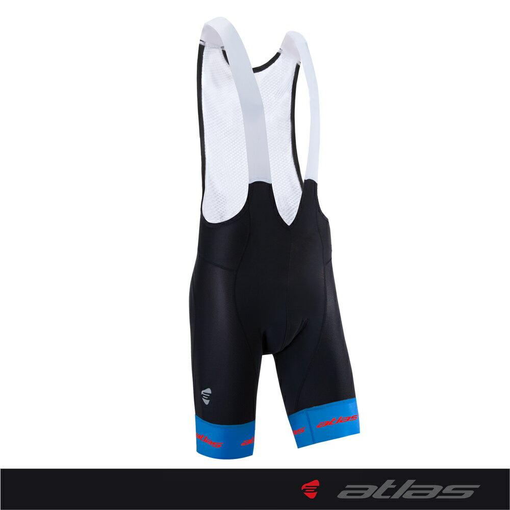 Atlas 亞特力士 【炎夏系列】男款五分透氣吊帶車褲 HJ-7999-1(五代/藍) 30℃~38℃