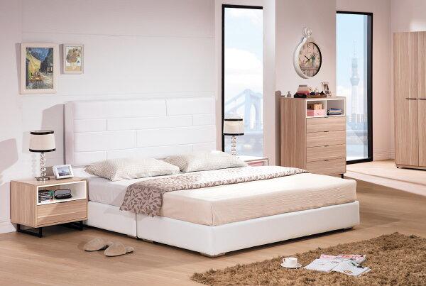 【尚品傢俱】HY-A109-09安東尼白色皮5尺床頭片~另有6尺