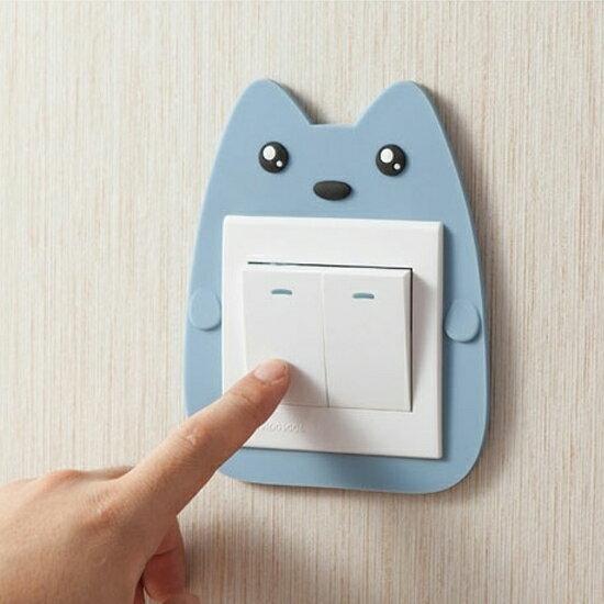 ♚MY COLOR♚卡通圖案夜光開關貼 臥室 兒童 裝飾 牆壁 黏貼 牆貼 保護 可愛 動物 創意【F46】