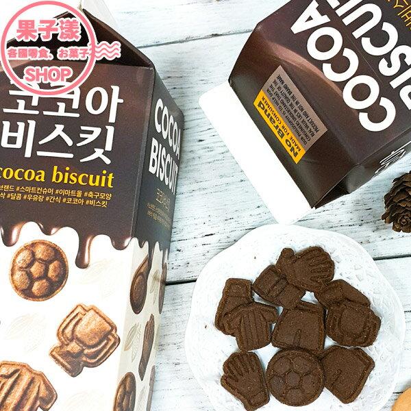 韓國 No Brand 足球造型巧克力餅乾 牛奶盒裝[KR418] 韓國進口/西班牙生產