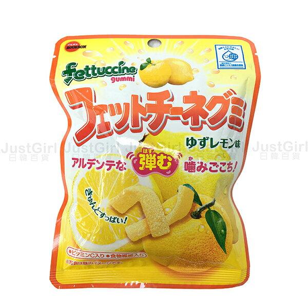 北日本 BOURBON fettuccine 柚子檸檬軟糖 軟糖 糖果 50g 食品 日本製造進口 JustGirl