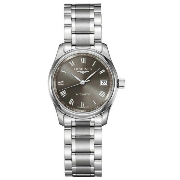 LONGINES浪琴表L22574716巨擘優雅羅馬經典機械腕錶黑面29mm