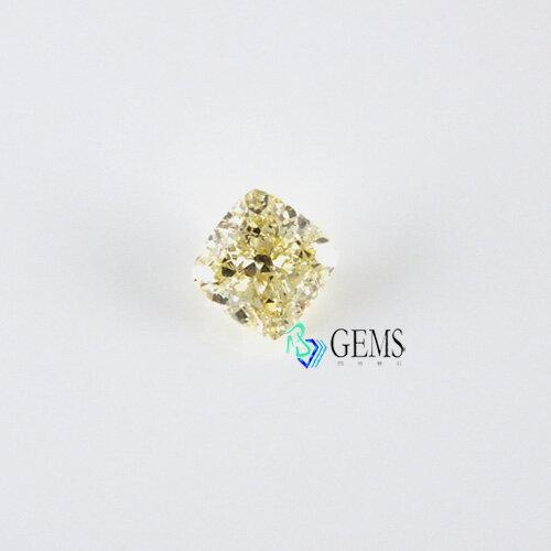 淡彩棕調黃鑽石 3.7克拉 VS1高淨度GIA彩鑽 Radiant Gem閃亮寶石