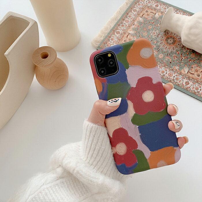 油畫感花朵 iPhone手機殼 #C1879