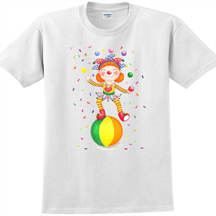 童趣、 師系列 ~ T恤:~ 愛情小丑 ~短袖修身 T~shirt   白   Sabri
