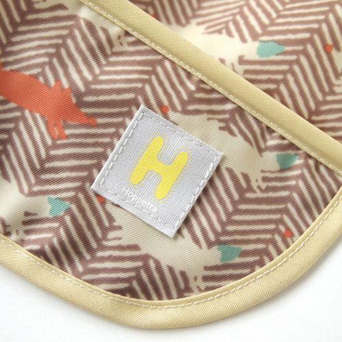 Hoppetta - 元氣小狐狸餐圍兜 (棕) 4