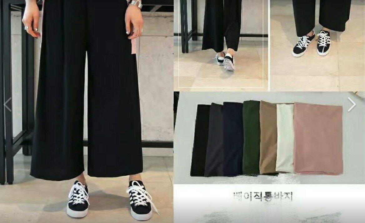 夏季必選 正韓 涼感 寬褲 可穿到 2XL