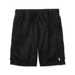 美國百分百【全新真品】Ralph Lauren 抽繩短褲 休閒褲 褲子 Polo RL 小馬 黑色 XS S號 青年版 I159