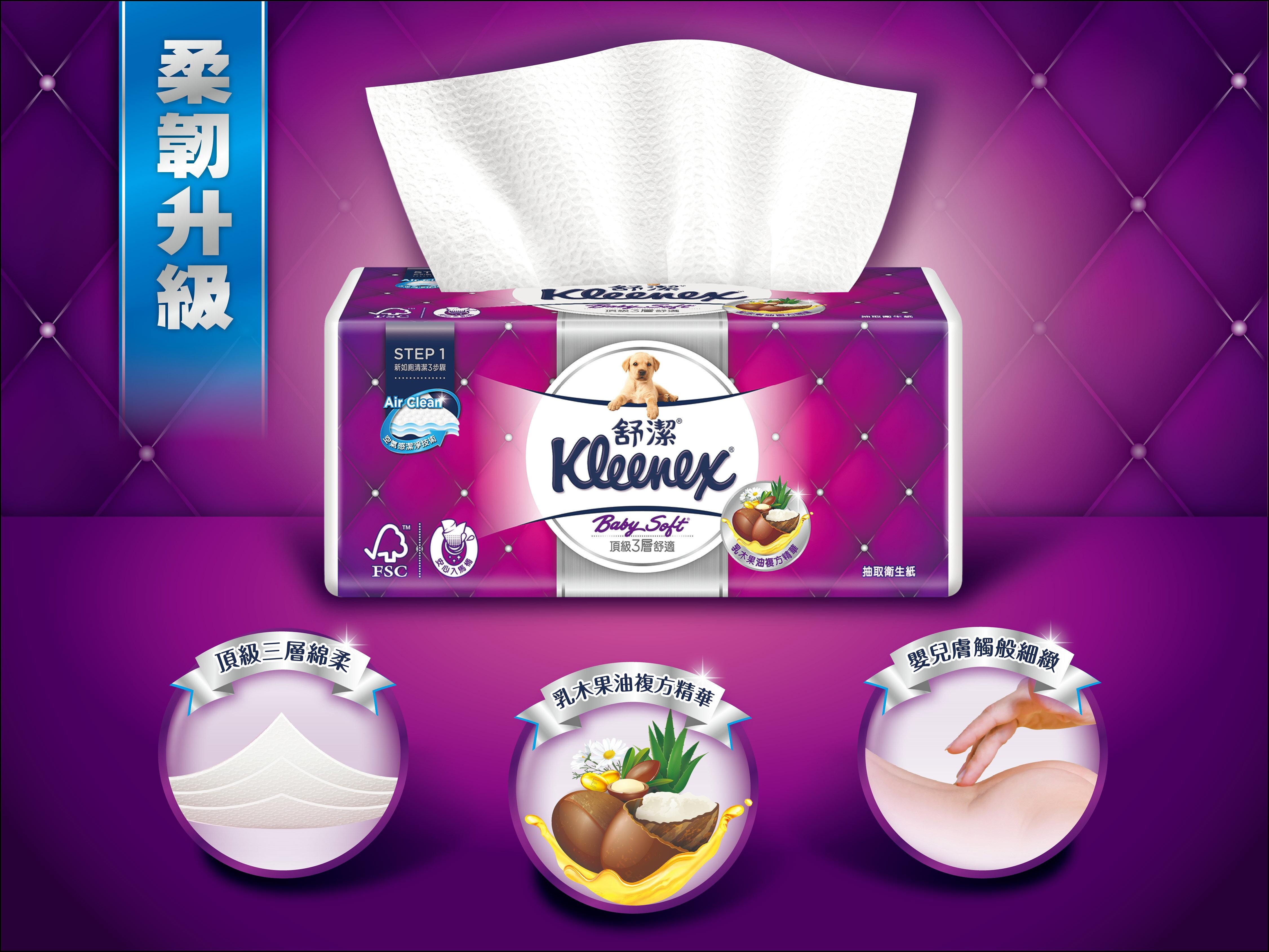 Kleenex 舒潔 三層抽取式衛生紙 110抽 X 60包