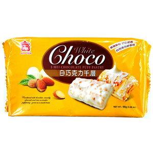 義美 巧克力千層派 白巧克力 98g