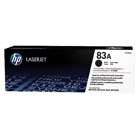 HP 83A 黑色原廠 LaserJet 碳粉匣 (CF283A) For HPM125a/M127fn/M225dw