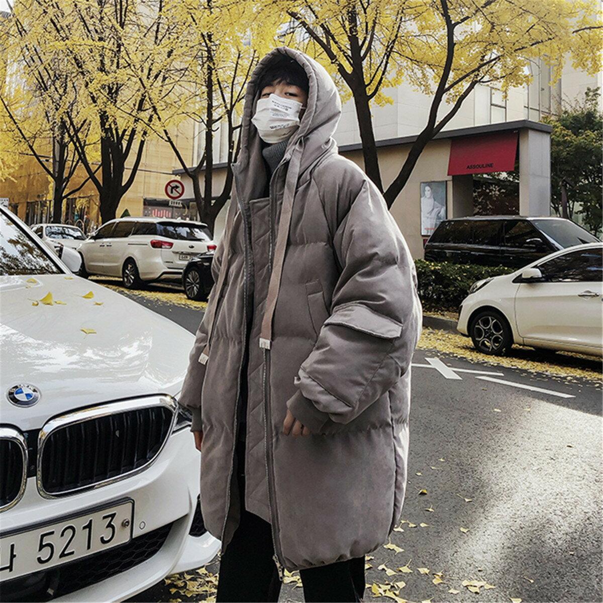 冬季棉服男韓版潮流學生中長款寬鬆棉衣潮牌外套ins網紅bf麪包服
