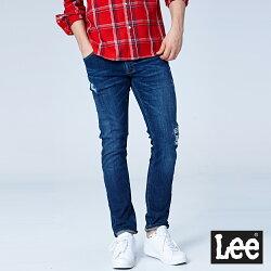 Lee  709低腰合身小直筒牛仔褲/101+深藍-男款