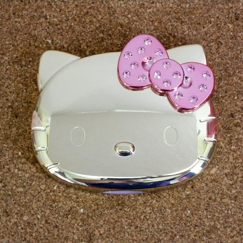 【真愛日本】15062400032 鏡梳組-大臉電鍍金 三麗鷗 Hello Kitty 凱蒂貓 鏡子 隨身鏡 化妝鏡 正品 限量 預購