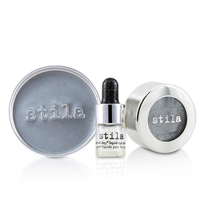 Stila 詩狄娜 金屬色高光眼影 Magnificent Metals Foil Finish Eye Shadow With Mini Stay All Day Liquid Eye Primer - # Titanium 2pcs