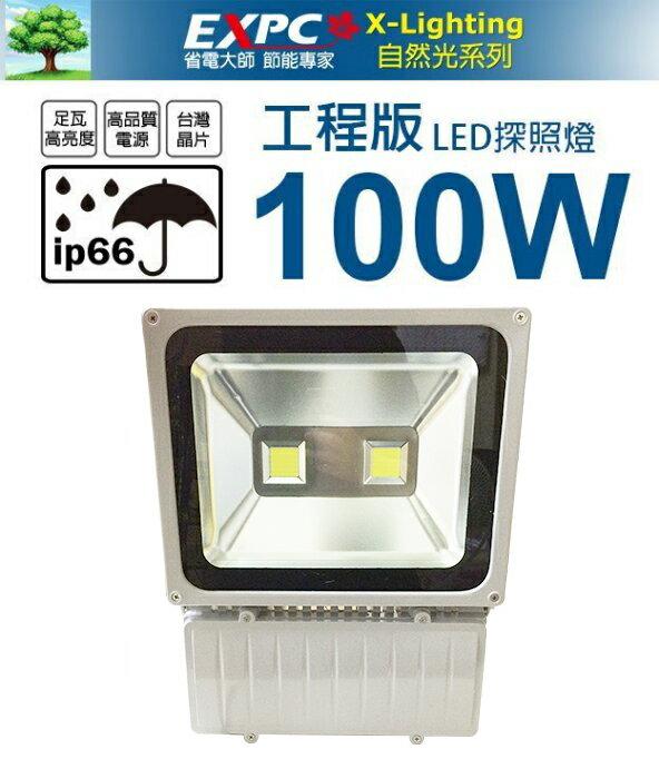 X-LIGHTING 工程版 100W (白光) 超亮雙頭 LED 探照燈 投射燈 投光燈 防水型 AC100V~240V
