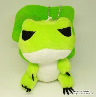 【UNIPRO】旅行青蛙10公分絨毛玩偶娃娃珠鍊吊飾青蛙七逃青蛙