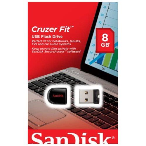 Sandisk 8GB Cruzer Fit USB 2.0 8G Flash Pen Drive SDCZ33-008G-B35 2