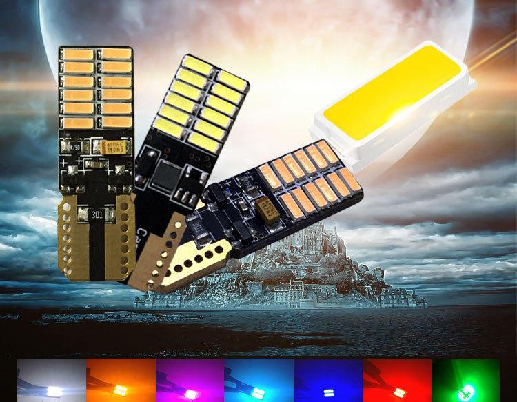 保固3個月 T10 4014+ 防水 LED 24晶片 超亮 T10車燈 牌照燈 閱讀燈 方向燈