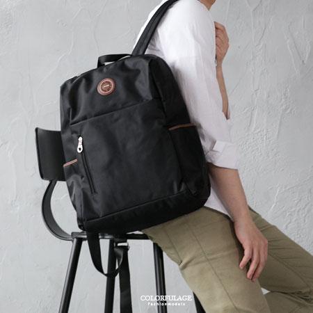 後背包 輕量質感防潑水尼龍材質雙肩背包 大容量空間設計 可放筆電 柒彩年代【NZ475】學生書包