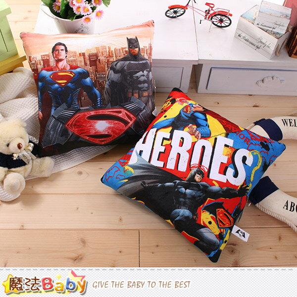 抱枕 蝙蝠俠對超人 正義曙光電影授權正品方形抱枕 魔法Baby~c0121