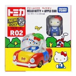 TOMICA R02 TM騎乘系列 HELLO KITTY x APPLE 凱蒂貓蘋果車 【鯊玩具Toy Shark】