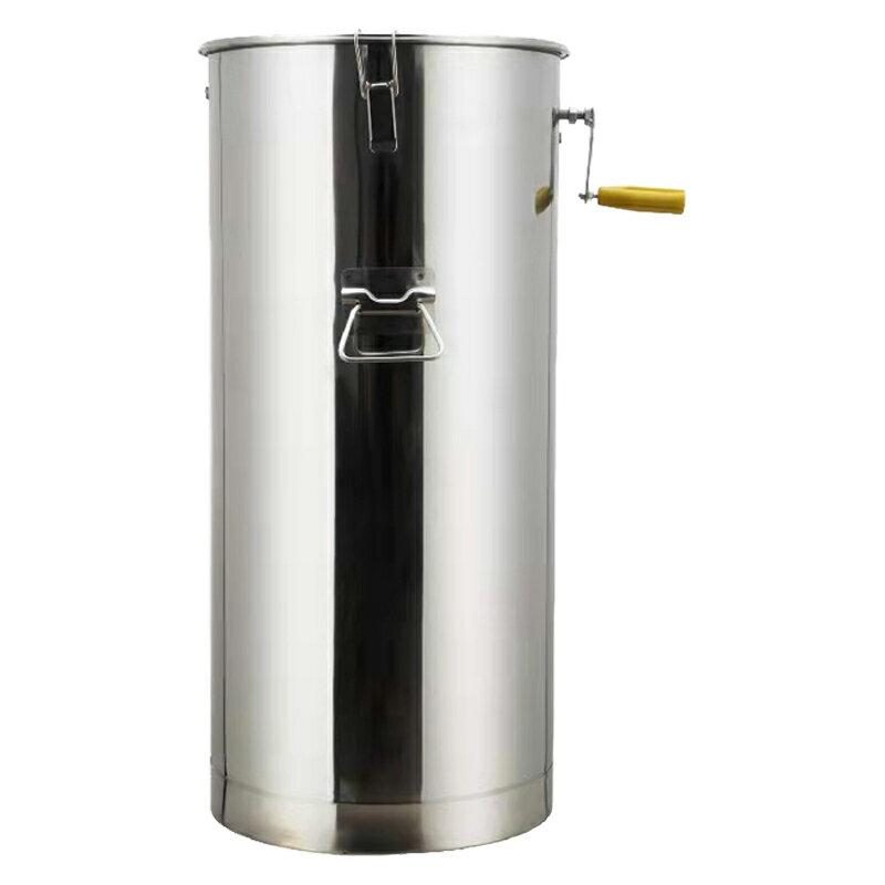 搖蜜機 搖蜜機304全不銹鋼小型家用蜂蜜分離養蜂工具中蜂加厚打糖甩蜜桶【MJ11152】