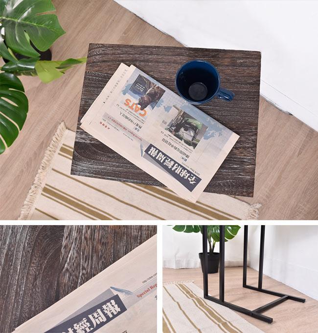 凱堡 桐木邊桌 實木邊桌 仿舊系列 小茶几沙發邊桌【H05070】 6