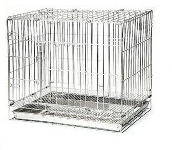 1.5尺 不鏽鋼 不銹鋼 活動雙門折疊式 摺疊式 白鐵貓籠 狗籠 兔籠 寵物籠