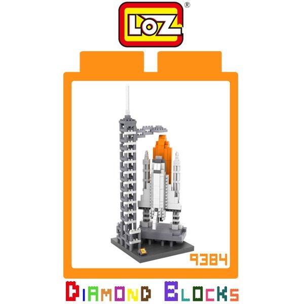 LOZ 鑽石積木 9384 太空梭發射中心 710pcs/益智/趣味/迷你/腦力激盪/積木/公仔/玩具【馬尼行動通訊】