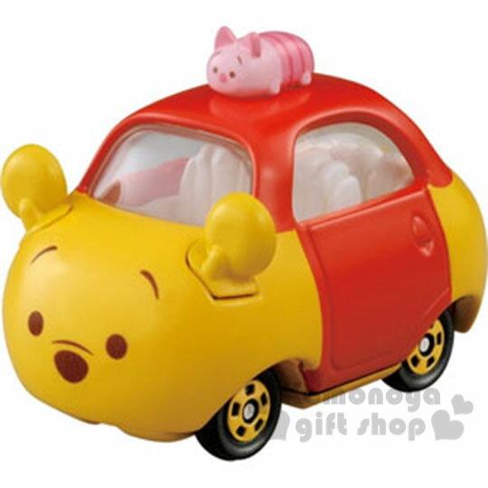 〔小禮堂〕迪士尼 TSUM TSUM Charo Q迴力車《小.小熊維尼.造型》TOMICA小汽車系列