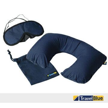 英國藍旅Travel blue安睡組(充氣頸墊+眼罩)~旅遊必備