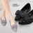 ★399免運★格子舖*【KF717-6】典雅蝴蝶結 華麗璀璨水鑽 舒適鞋墊 尖頭平底包鞋 娃娃鞋 懶人便鞋 2色 0