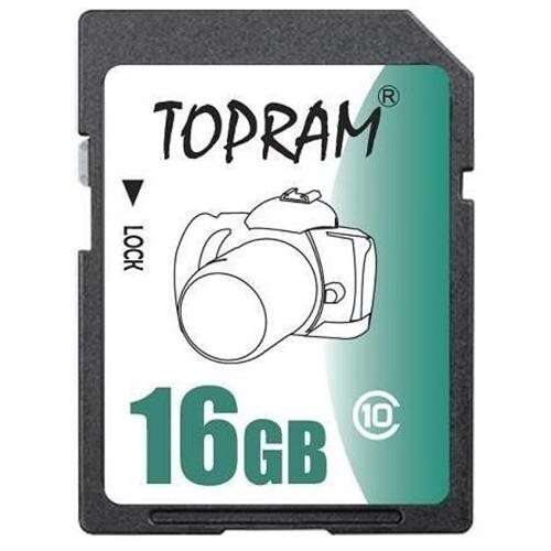 TOPRAM 16G 16GB SD SDHC Class 10 extreme fast Secrue Digital Memory Card (SD Ver. 3.0) 0