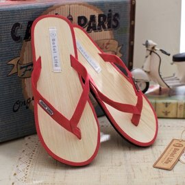 Betel Life 檳榔葉拖鞋-紐約風格【Cozy Red 經典紅】LADIES 環保素材 舒爽除臭