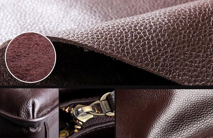 Men Leather Handbag Messenger Shoulder Briefcase 2