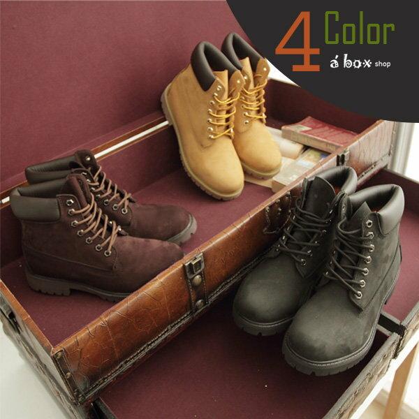 【KV098】Timberland同鞋廠‧全牛皮製‧頂級磨砂皮經典工作靴 圓頭靴 黃金靴 情侶鞋 四色