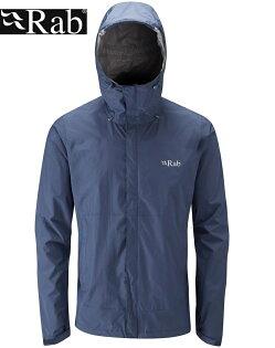 【速捷戶外】英國RABQWF-61DownpourJacket男高透氣連帽防水外套(幕藍),登山雨衣,防水外套
