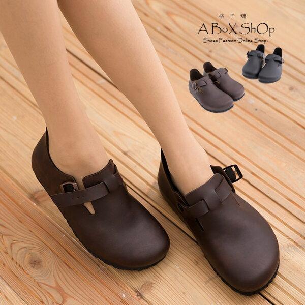 【KW7328】MIT台灣製高質感高品質真皮基本款皮革女款全包鞋懶人鞋兩色
