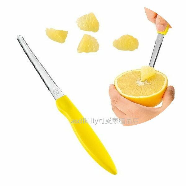 asdfkitty可愛家☆日本製 下村工業 不鏽鋼葡萄柚刀-挖出果肉乾淨漂亮-橘子柳丁也可用