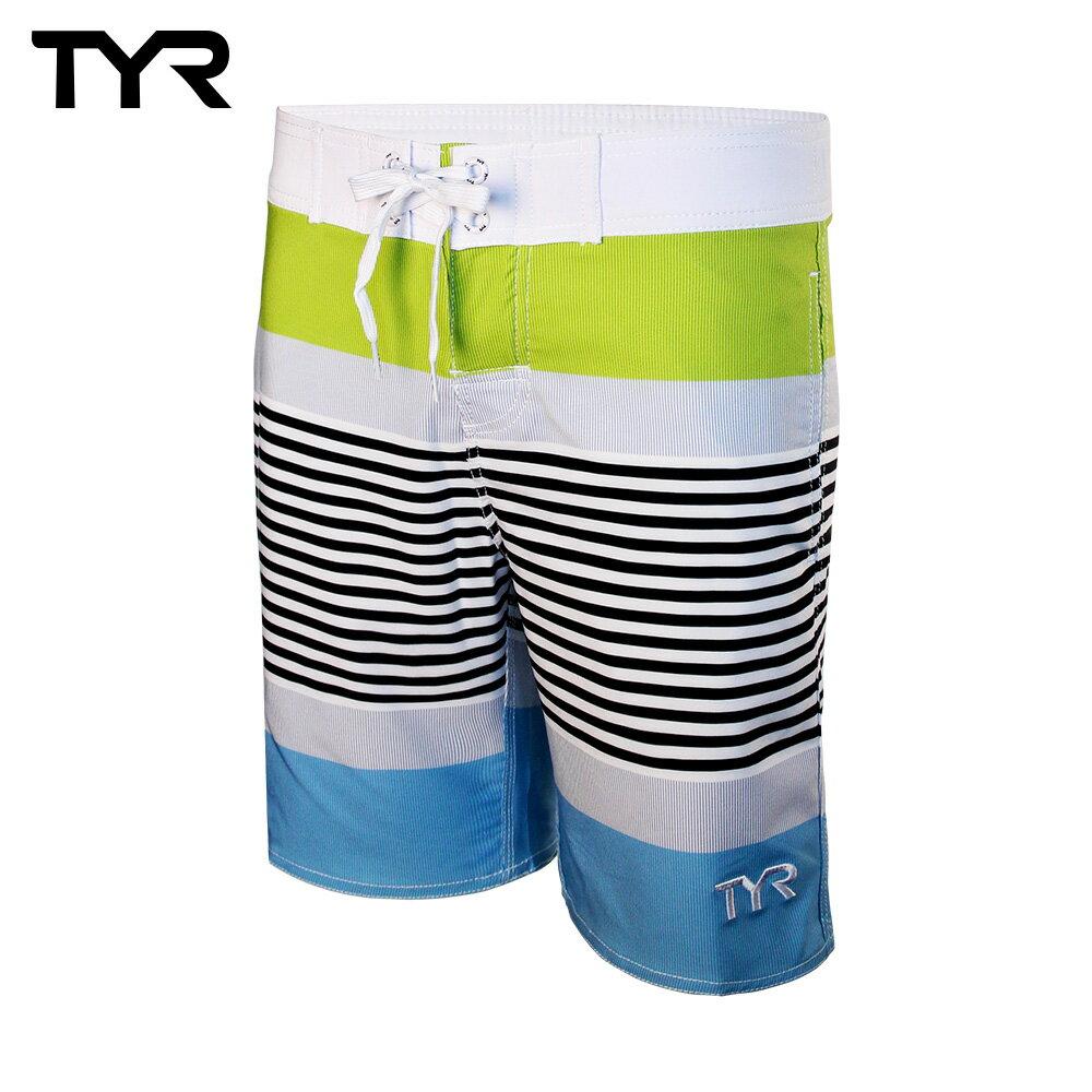 美國TYR男款彈性海灘褲Zag Stripe Boardshort VIridian Green台灣總代理 - 限時優惠好康折扣