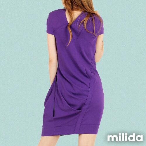 【Milida,全店七折免運】-春夏商品-V領款-修身氣質洋裝 2