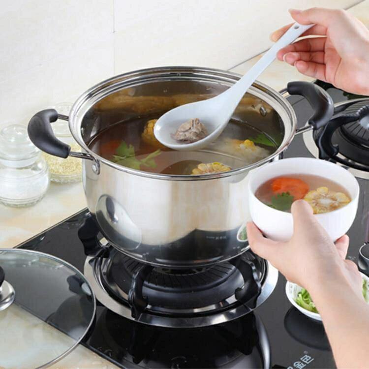 雙耳鍋具家用蒸鍋小火鍋不銹鋼鍋電磁爐鍋小湯鍋加厚火鍋迷你通用