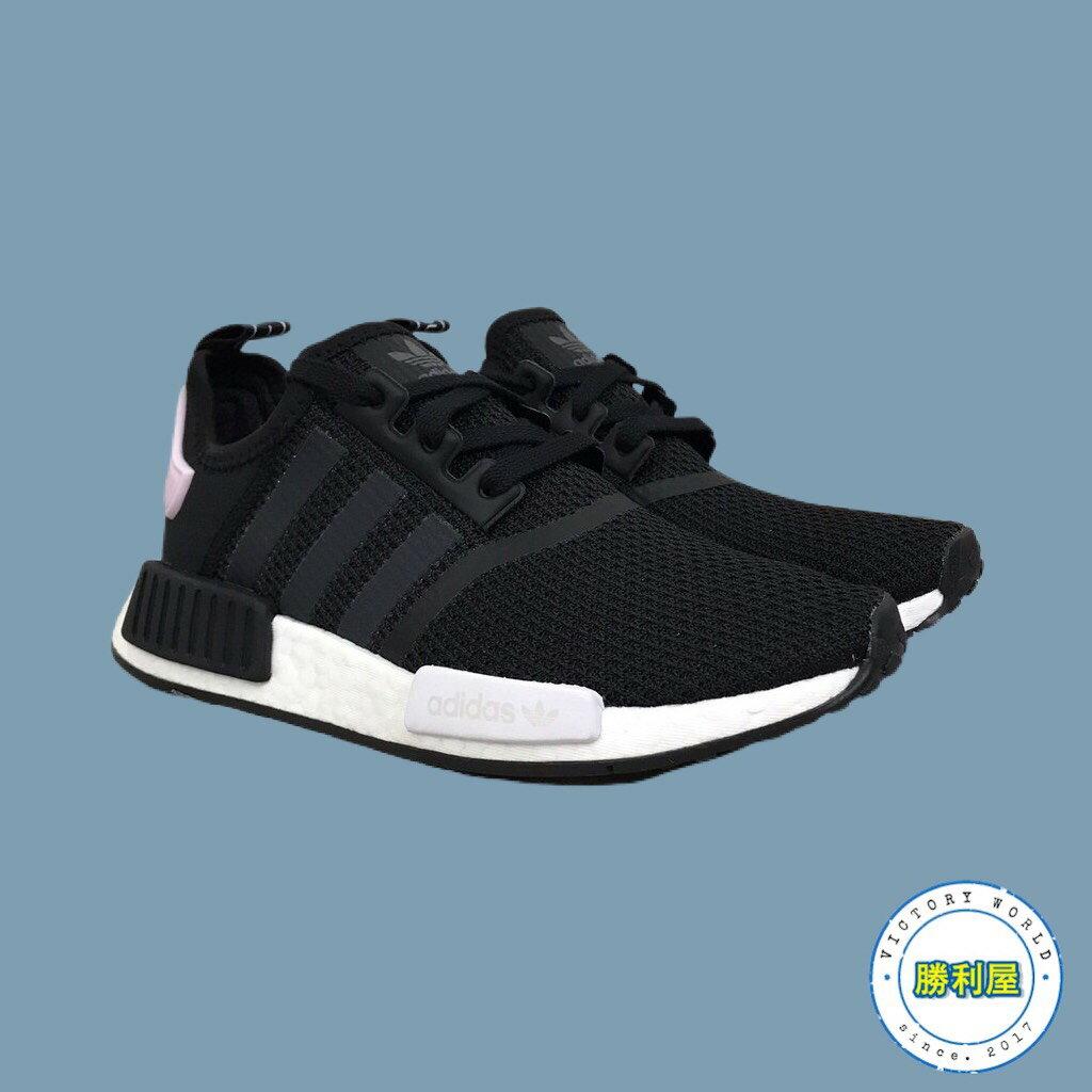 【ADIDAS】NMD R1 W 女鞋 休閒鞋 黑白 黑粉 BOOST 熱門款 B37649【勝利屋】 0