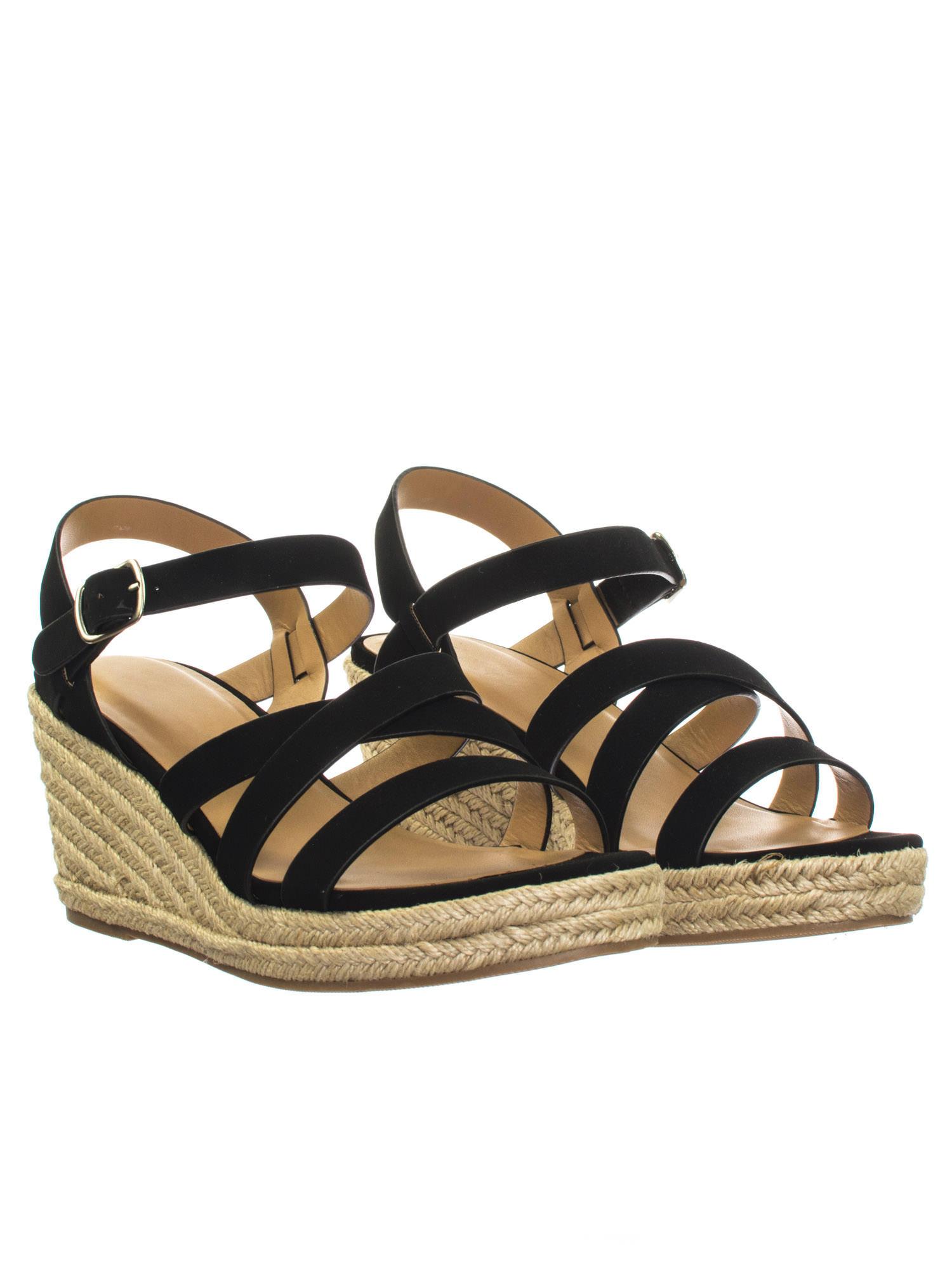 dbe3a585596f Jubilee Black by City Classified Espadrille Rope Jute Wrap Platform Wedge  Open Toe Dress Sandal 2