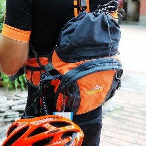美麗大街【BK022114】三合一 防水帆布包 單車背包 腰包 休閒包