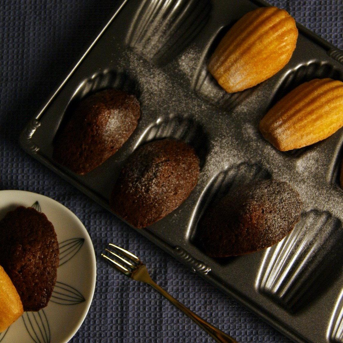 【黑手甜點】可可卡士達瑪德蓮/主廚特製/黑手法式小點系列